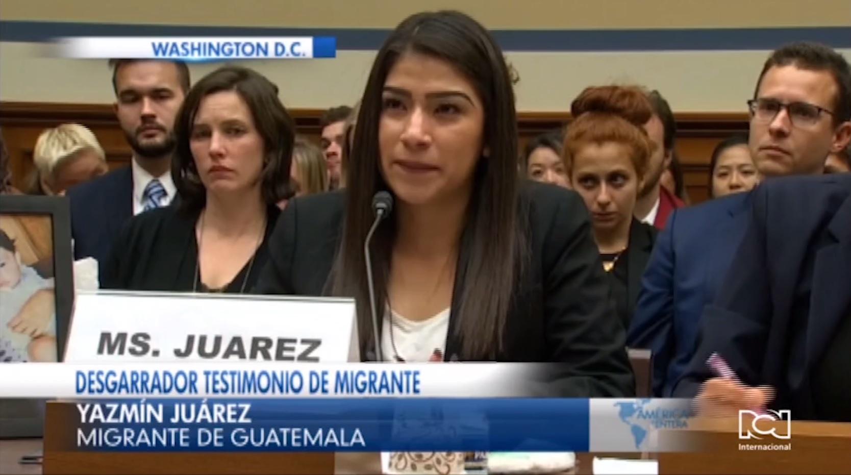 Madre indocumentada comparece ante el Congreso de EE.UU.