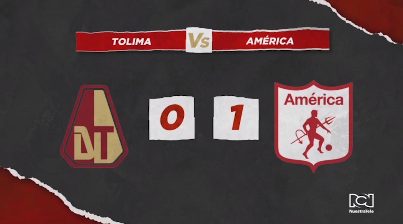 Deportes Tolima Vs América de Cali