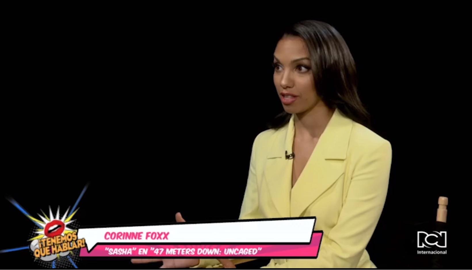 Corinne Foxx habló sobre su rol en '47 Meters Down: Uncaged'