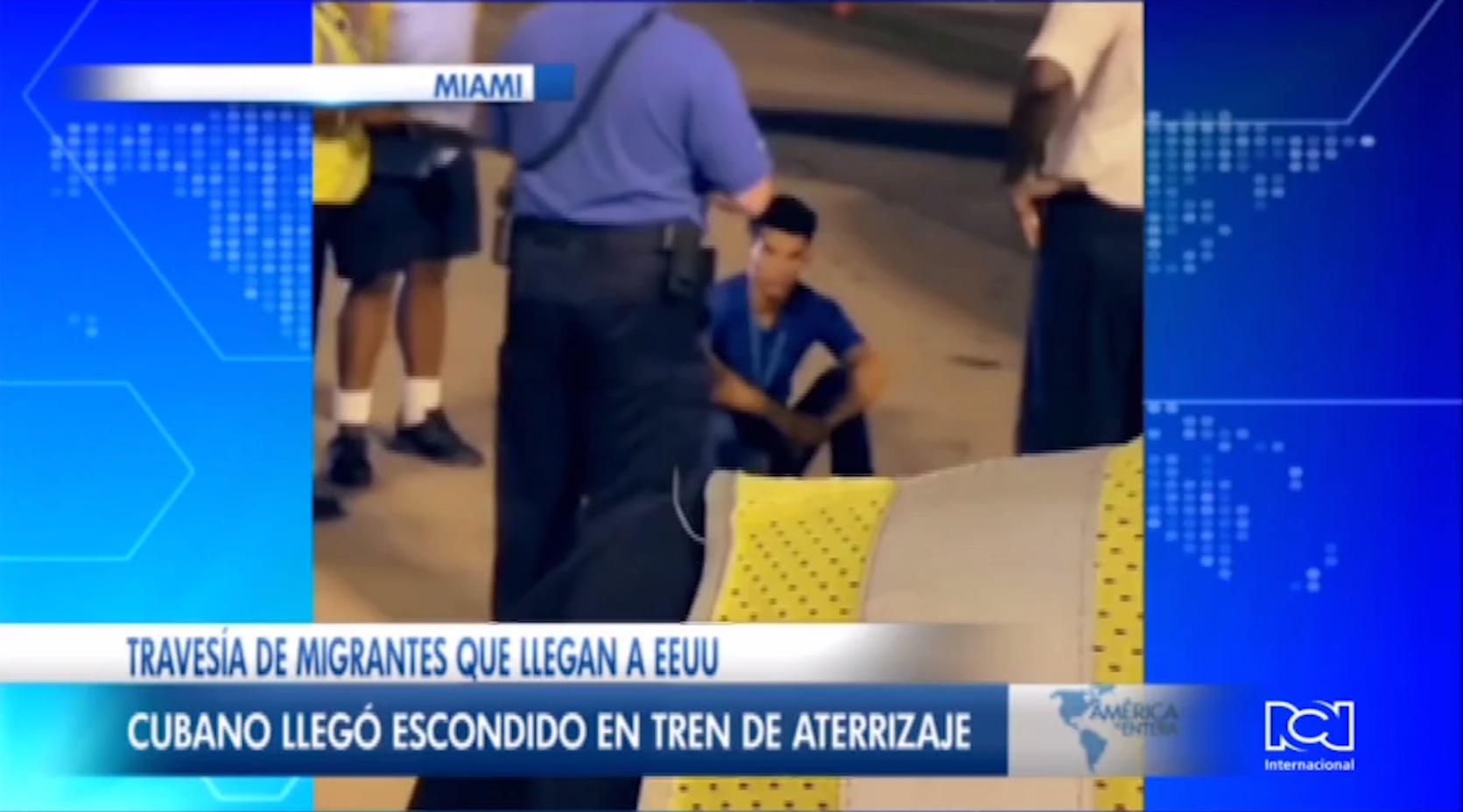 Polizón cubano llegó a Miami escondido en el tren de aterrizaje de un avión