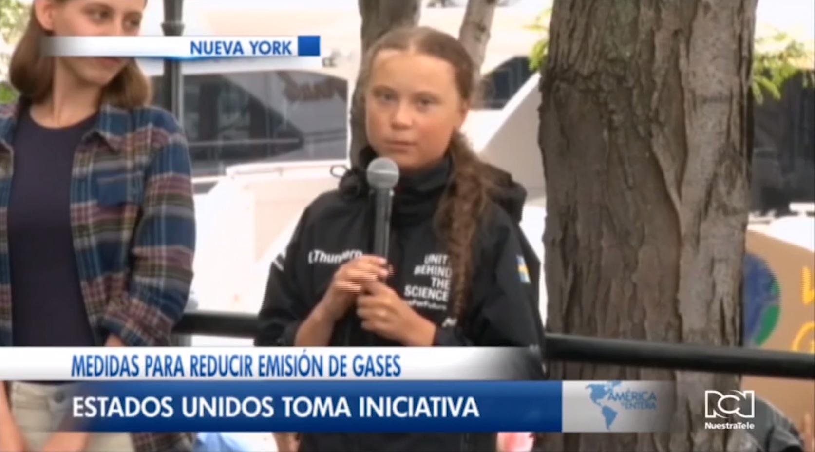 Greta Thunberg llegó a Nueva York para participar en la Cumbre contra el Cambio Climático