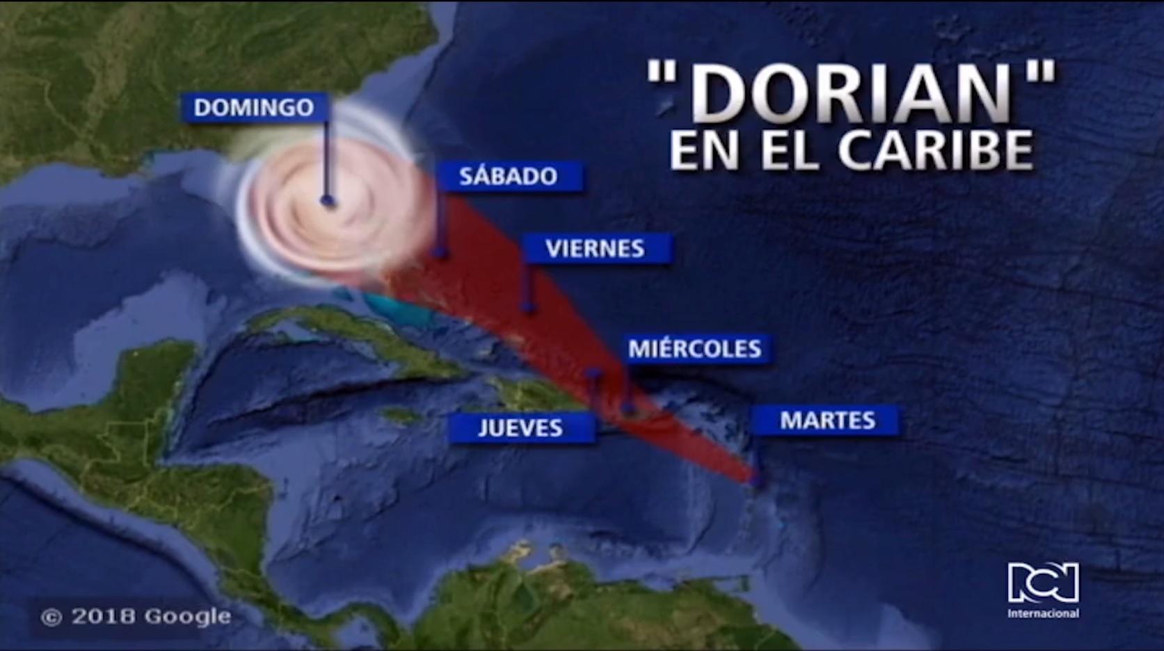 Doria llegará este fin de semana a Estados Unidos siendo huracán de categoría 2