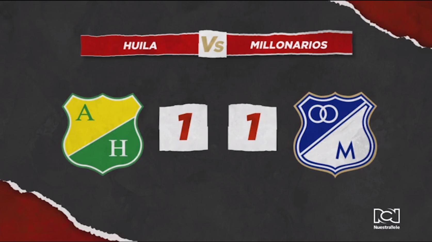Atlético Huila Vs Millonarios
