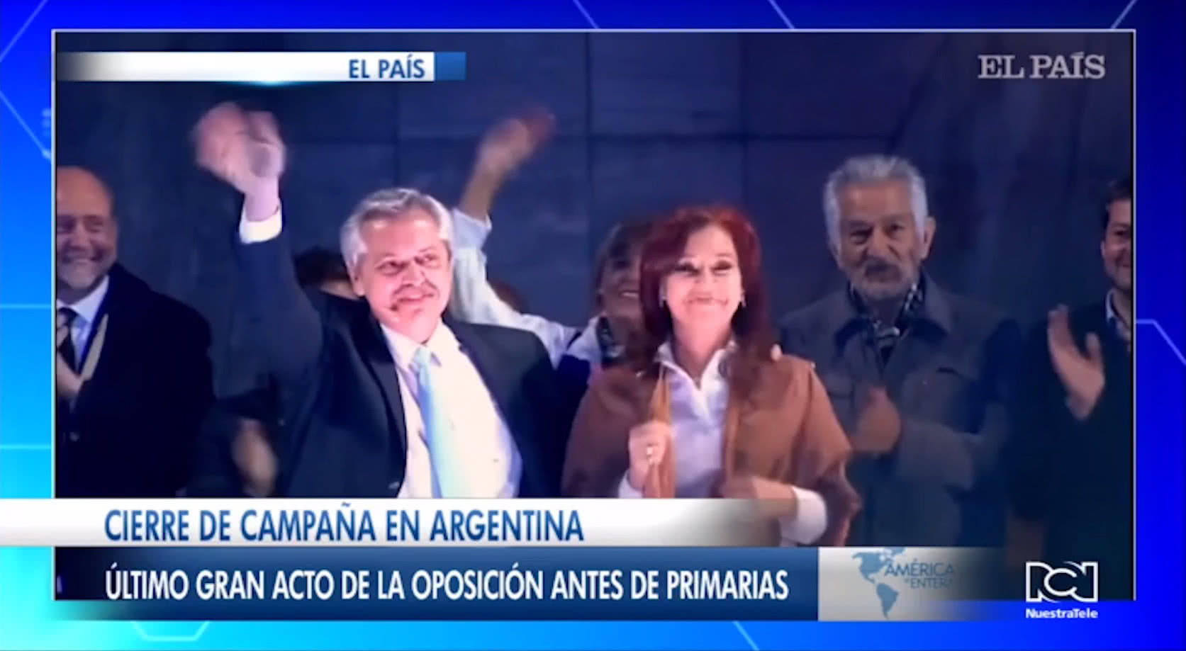 Kirchnerismo cierra campaña con un acto de reconciliación