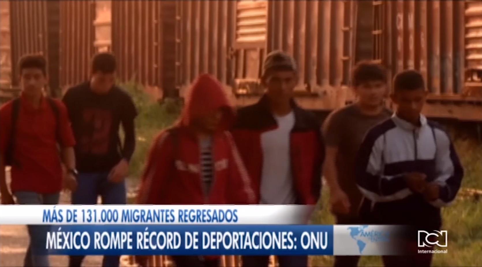 México rompe récord de deportaciones