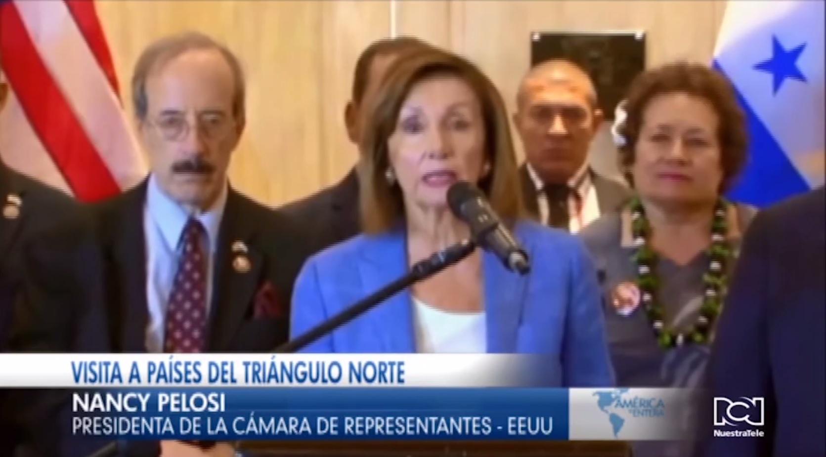 Concluye la visita de Nancy Pelosi por los países del Triángulo Norte