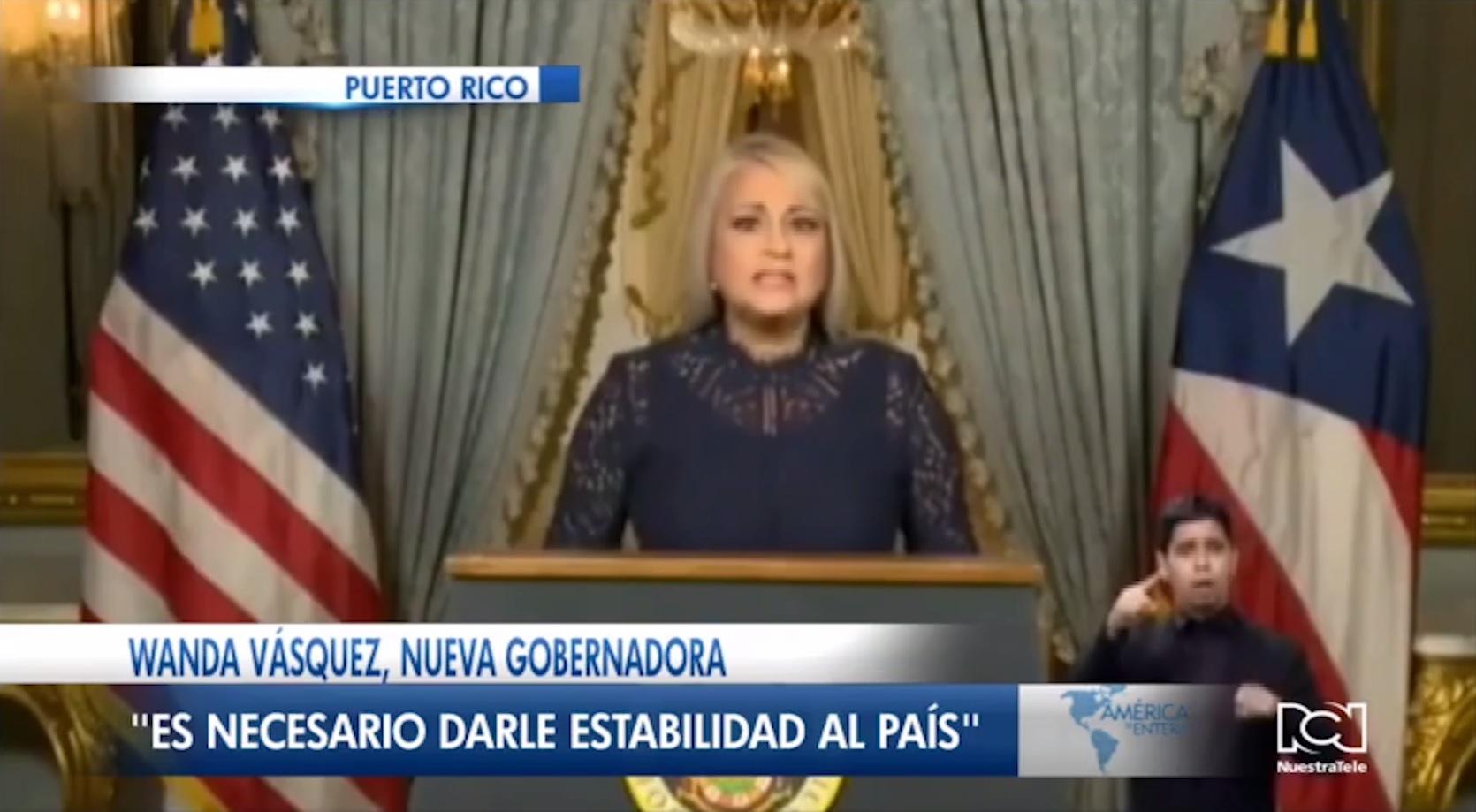 Wanda Vásquez asumió la gobernación de Puerto Rico
