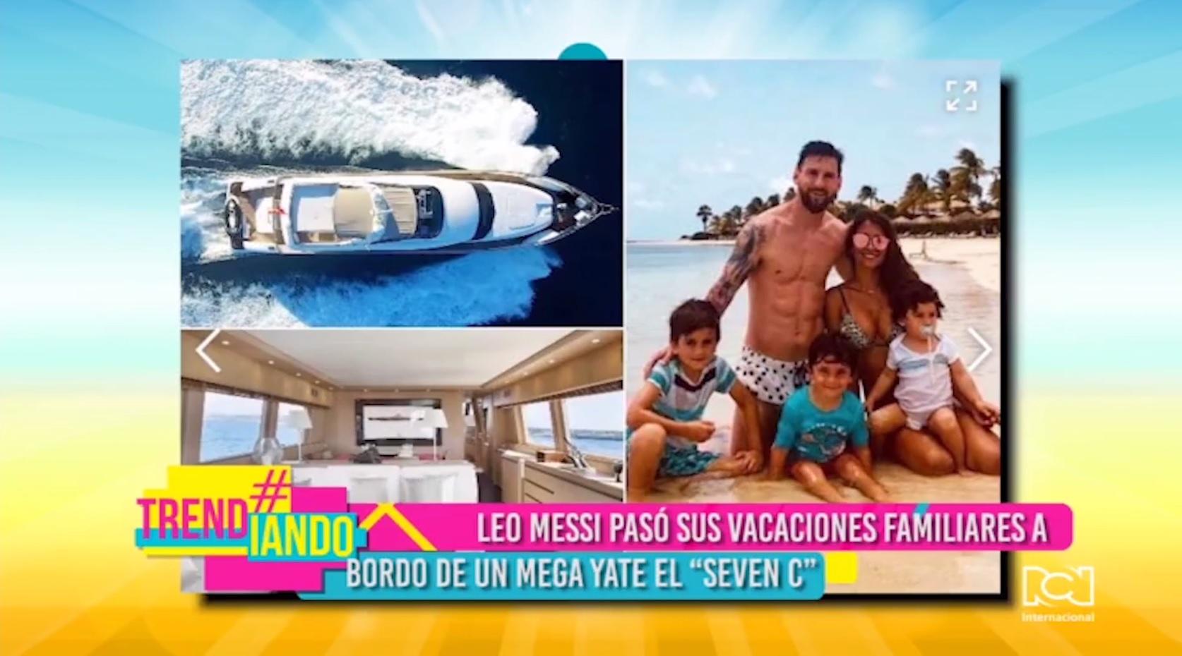 Yate de Leo Messi en vacaciones