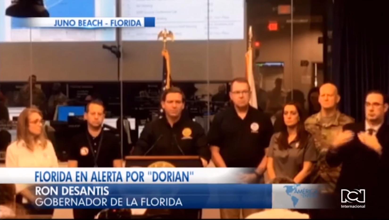 Autoridades de Florida piden a la población mantenerse resguardada mientras pasa la amaneaza del huracán Dorian