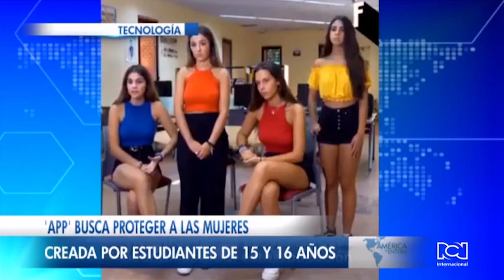 Adolescentes crean una aplicación para proteger a las mujeres de los peligros de la calle