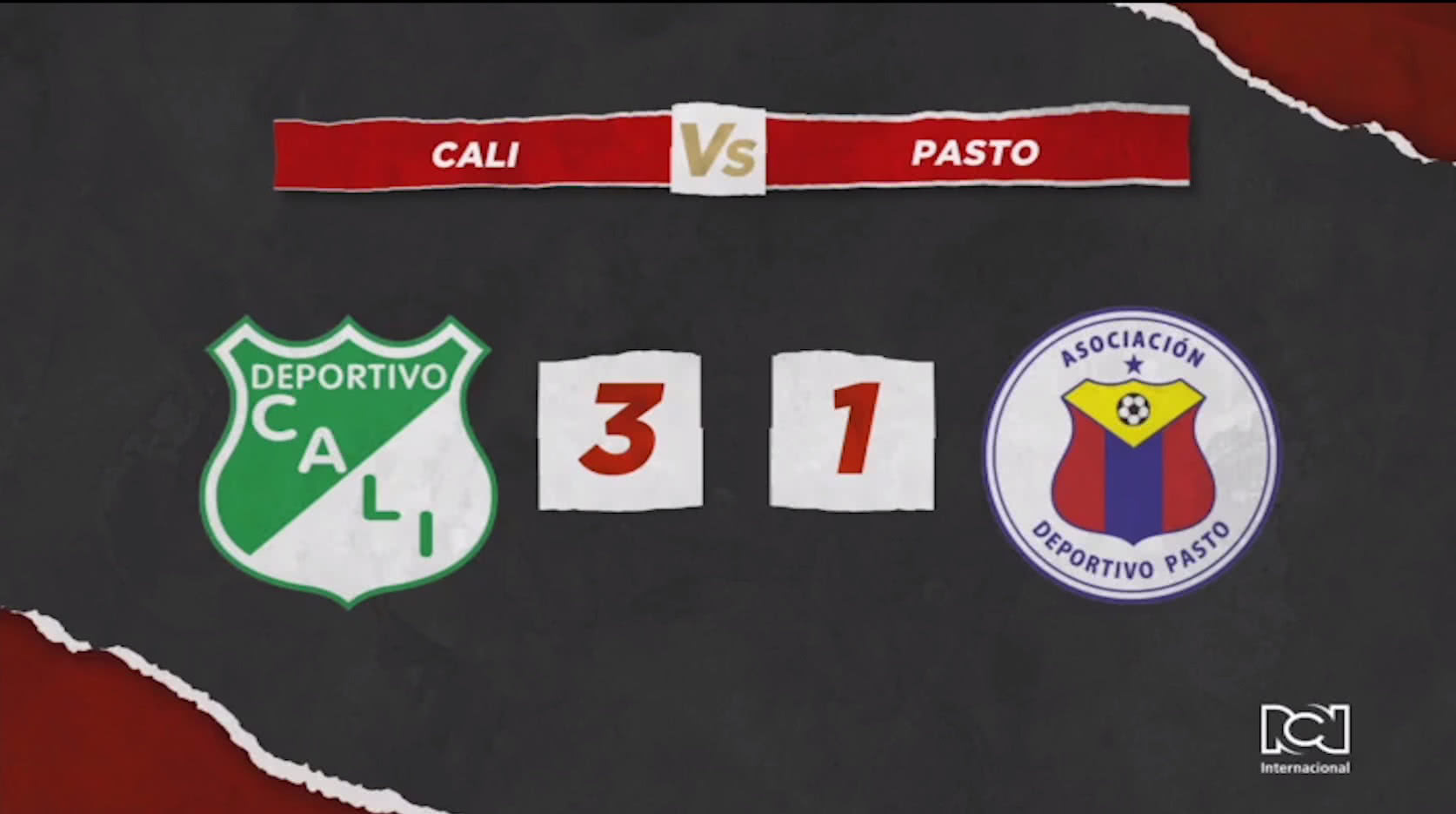 Deportivo Cali se hizo fuerte en su casa y derrotó al Deportivo Pasto