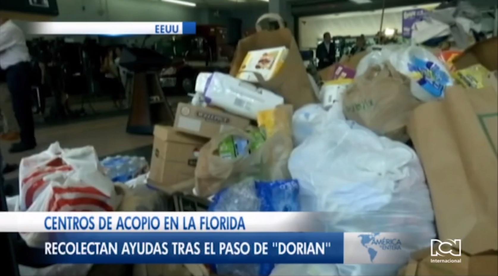 Miami habilita centros de recolección de ayuda humanitaria para víctimas del huracán Dorian en Bahamas