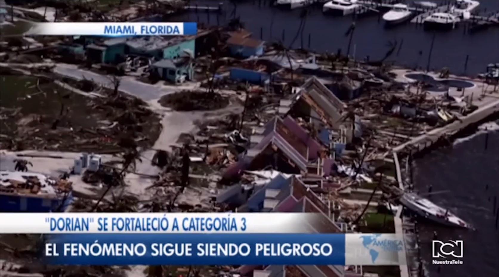 Dorian avanza como huracán de categoría 3 rumbo a las Carolinas