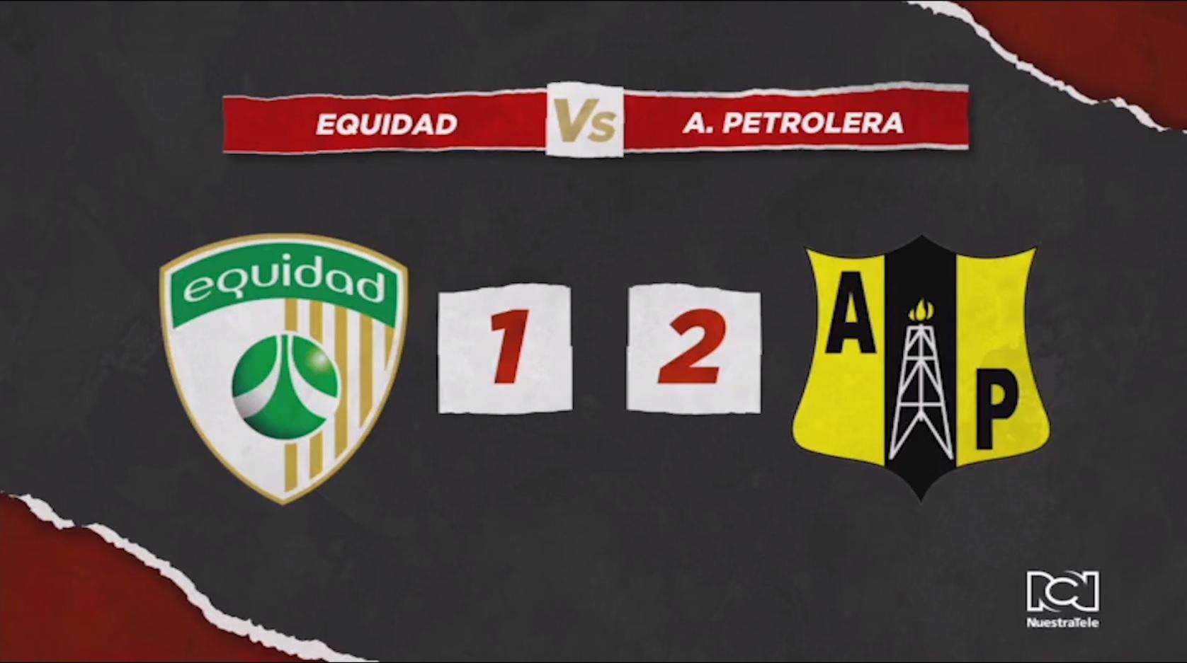 Alianza Petrolera derrotó a La Equidad en Bogotá y es el nuevo líder de la Liga Águila