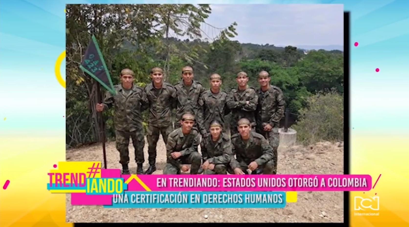 Estados Unidos entregó a Colombia una certificación en derechos humanos