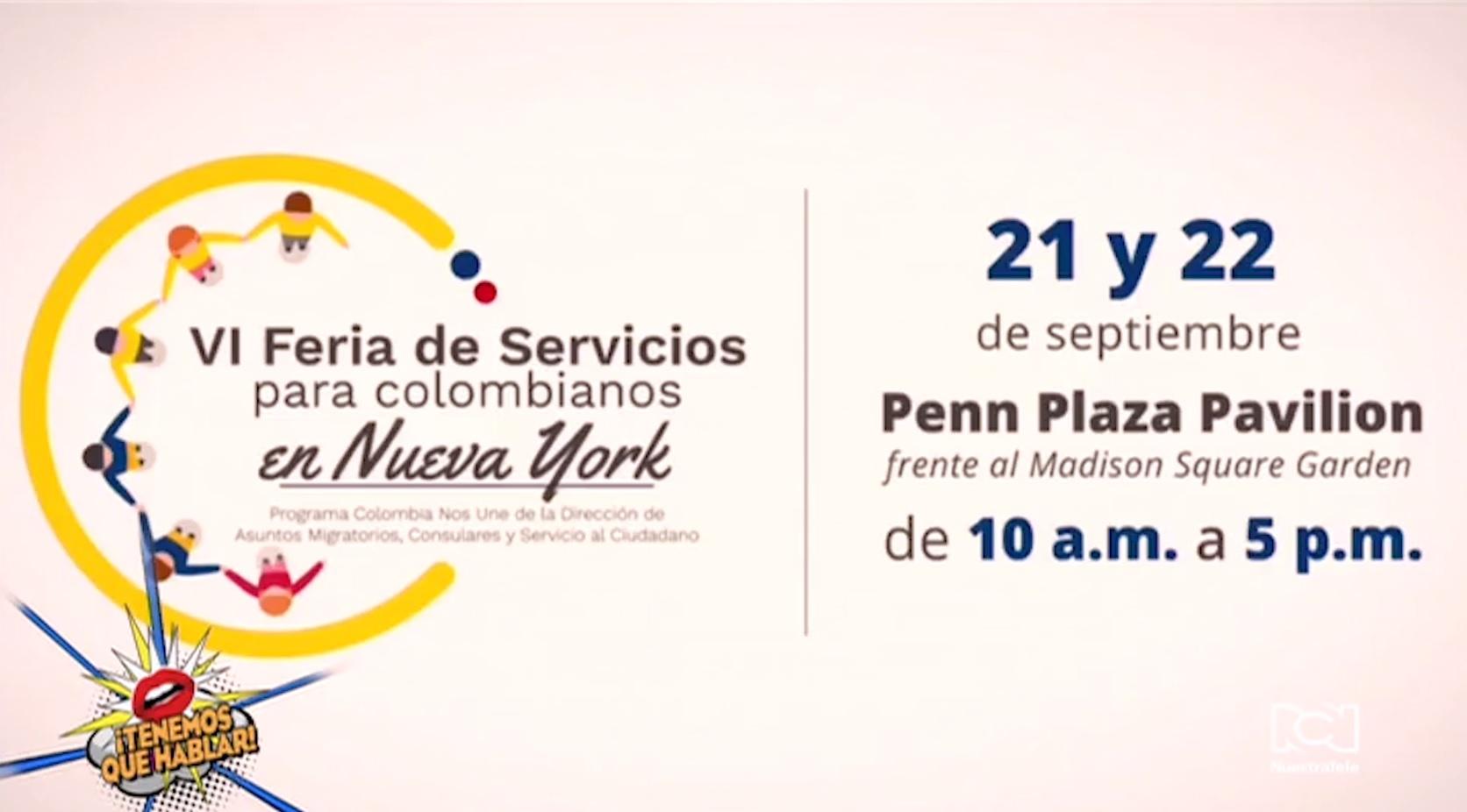 Talento de Nuestra Tele Internacional participará en la Feria de Servicios para colombianos en Nueva York