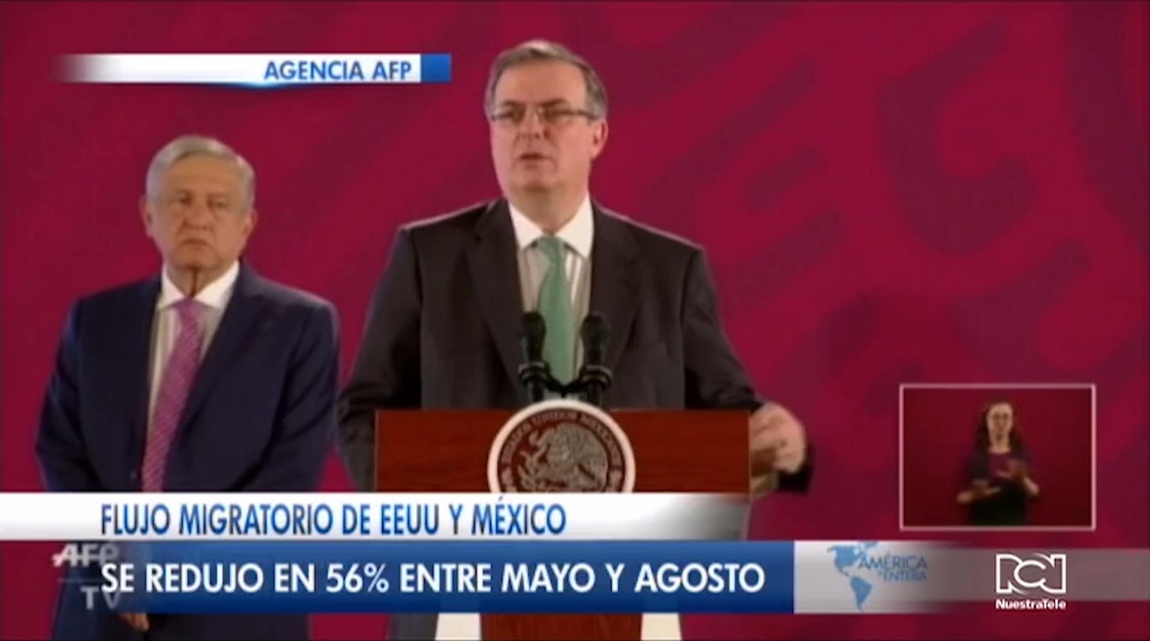 México redujo el 56% del flujo migratorio irregular hacia Estados Unidos
