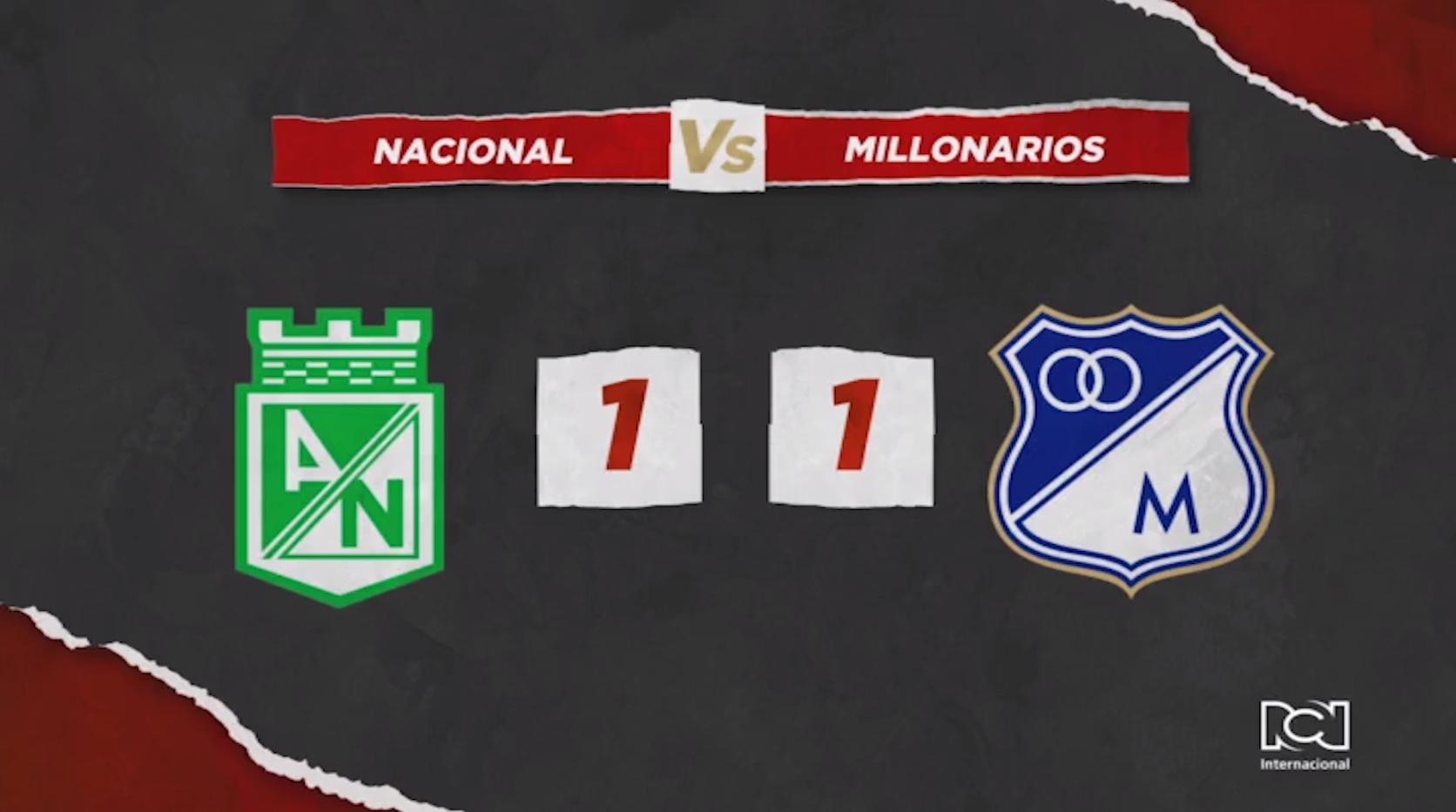 Nacional y Millonarios no pasaron del empate