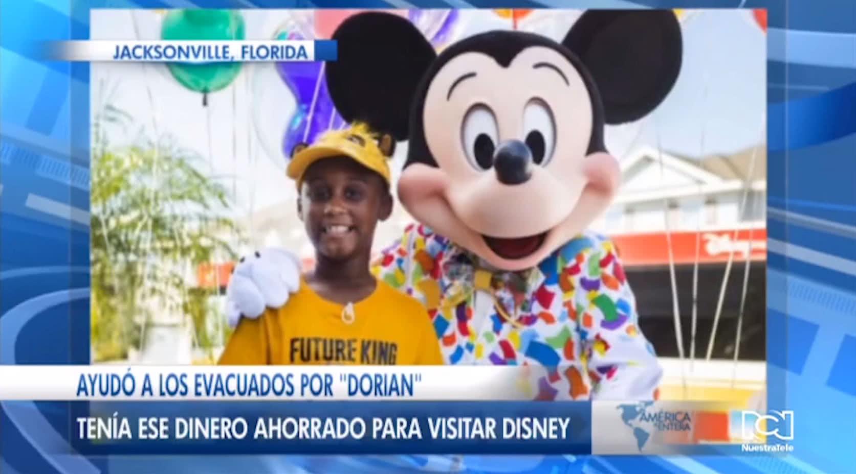 Niño de Florida dona todos sus ahorros para ayudar a las víctimas del huracán Dorian