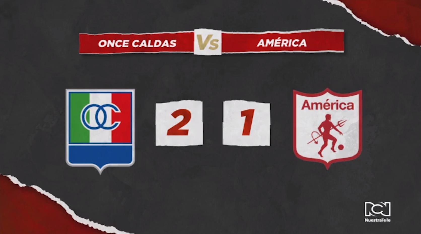 América no pudo frente a Once Caldas y cedió el liderato de la Liga Águila