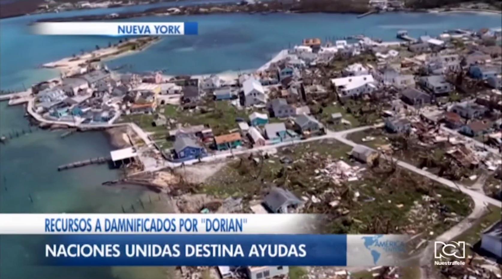 Naciones Unidas desembolsa 1 millón de dólares para ayudar a las víctimas del huracán Dorian en Bahamas
