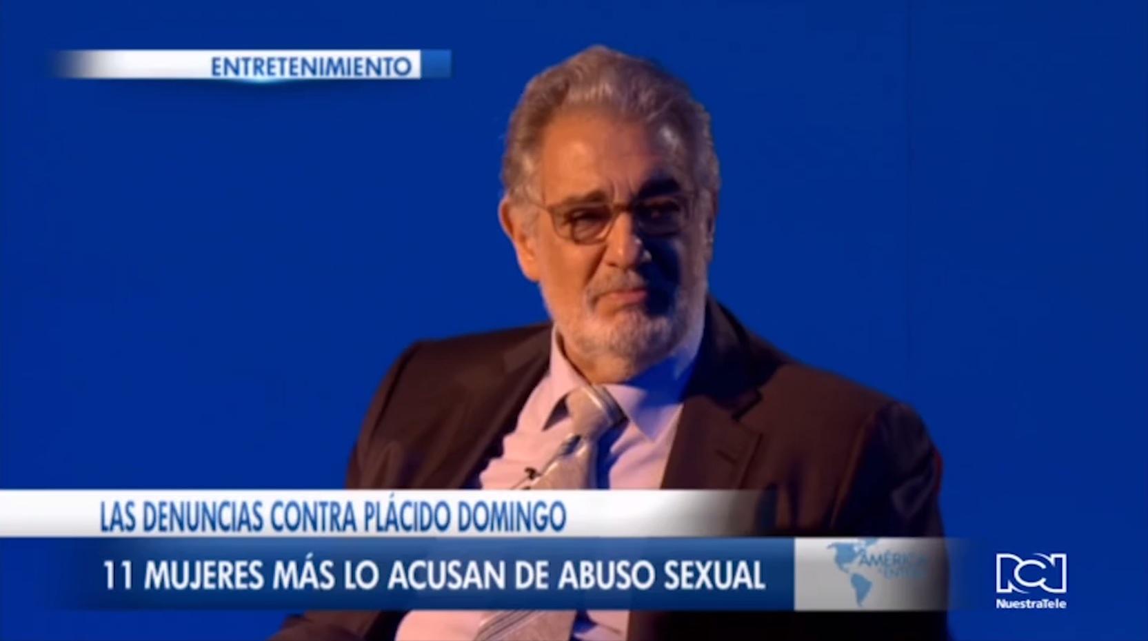 Once mujeres presentan nuevas acusaciones de abuso sexual contra Placido Domingo