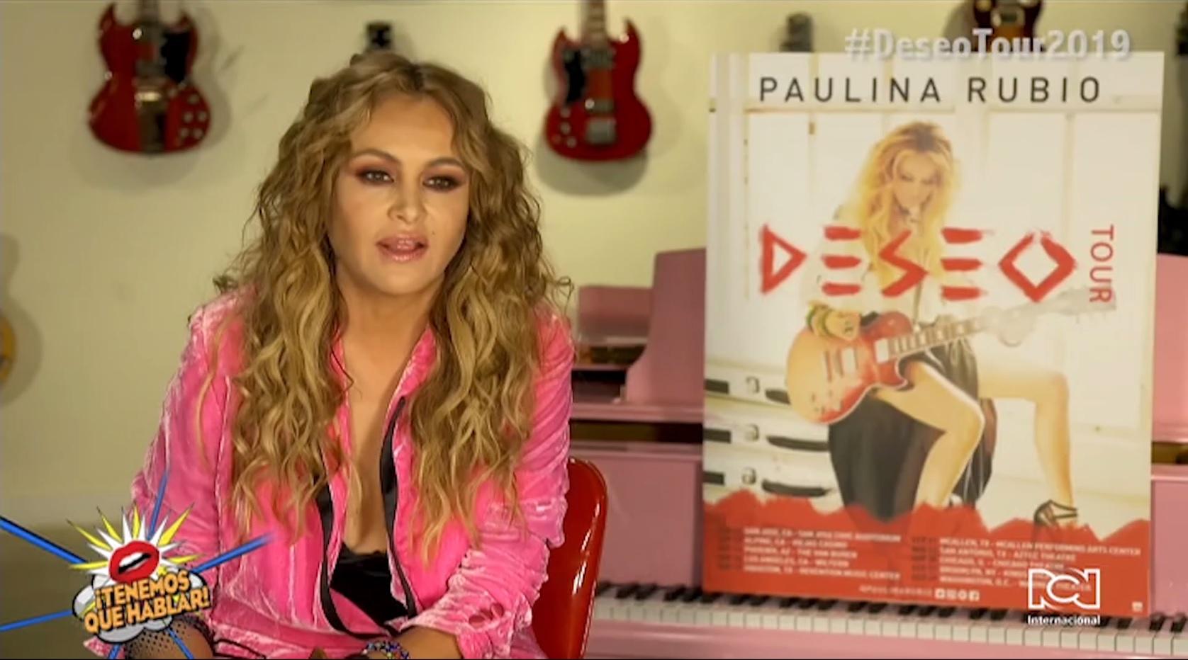 Paulina Rubio llega a Estados Unidos con su gira 'Deseo'