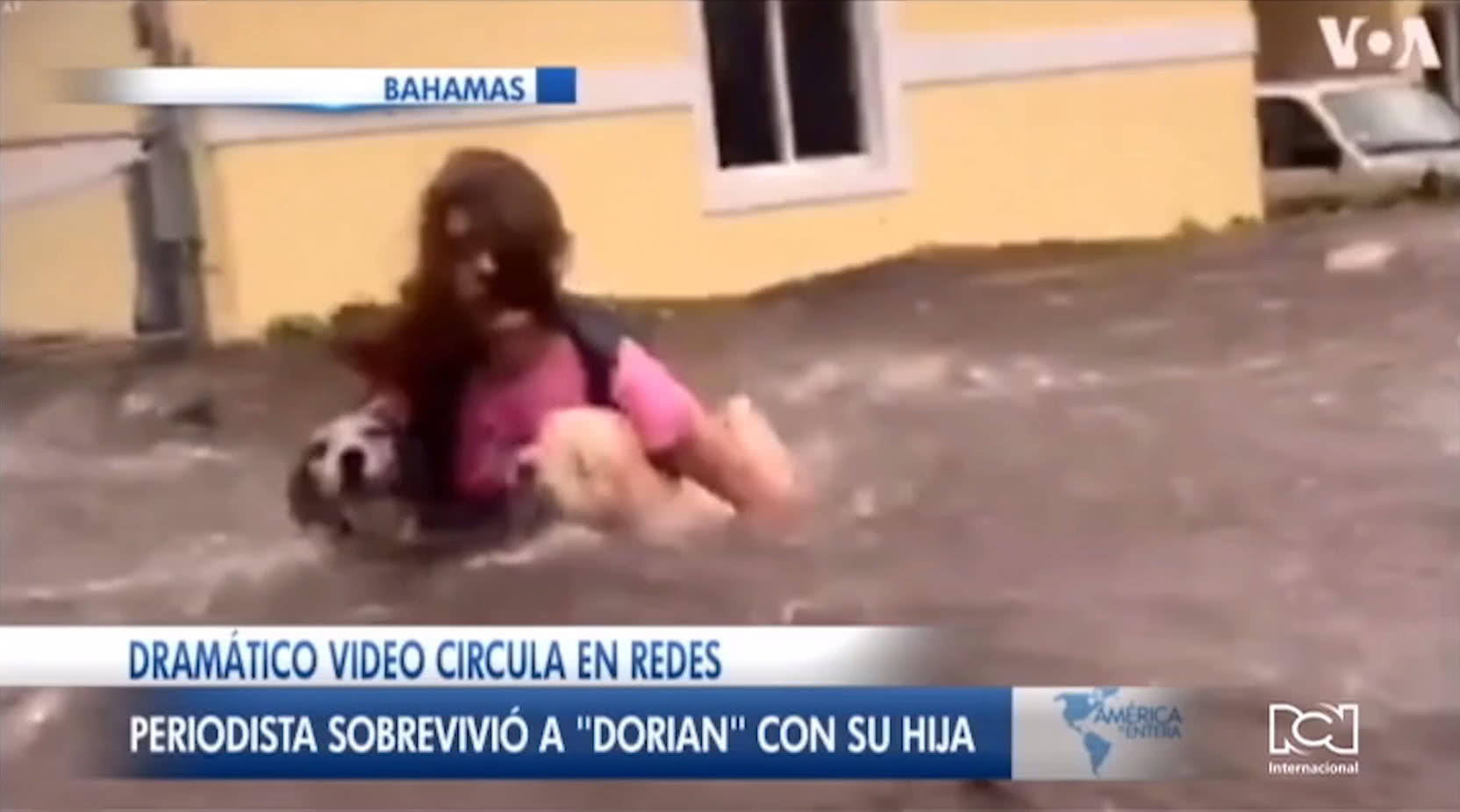 Video viral del huracán Dorian en Bahamas