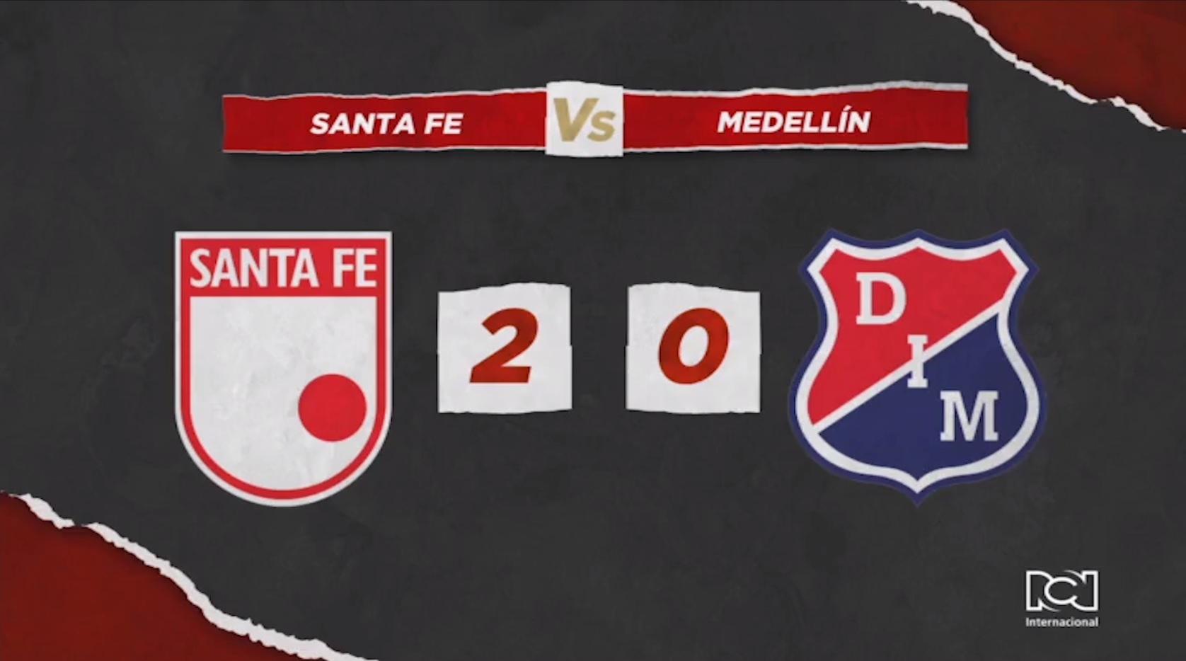 Santa Fe derrotó a Independiente Medellin y logró su primera victoria del año como local