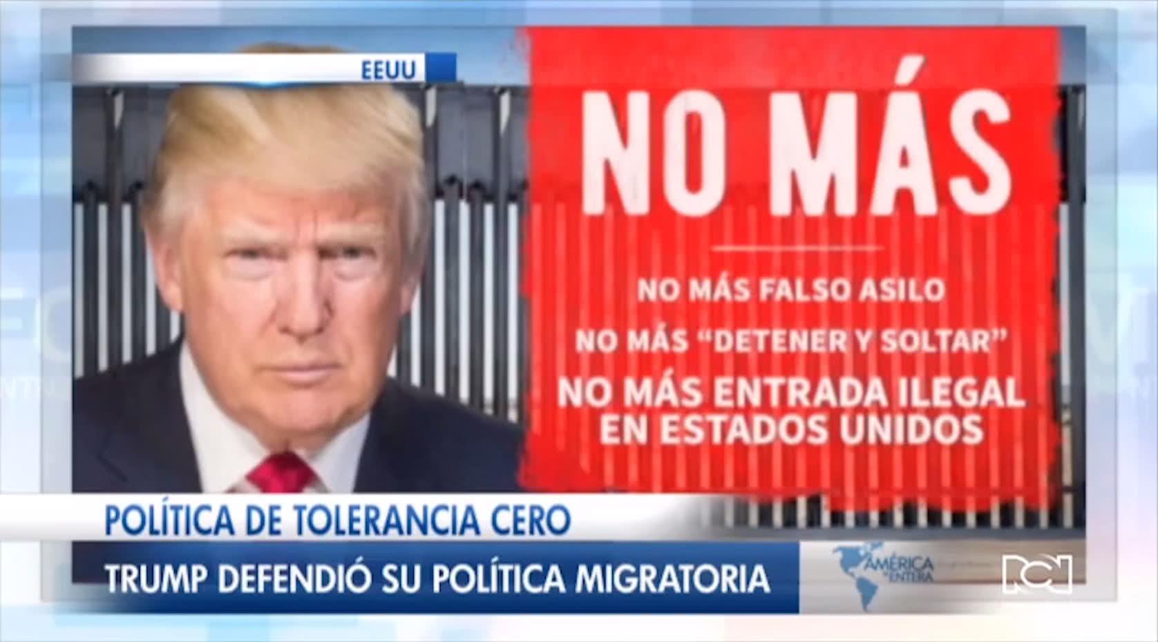 Trump usa el español para condenar la migración ilegal