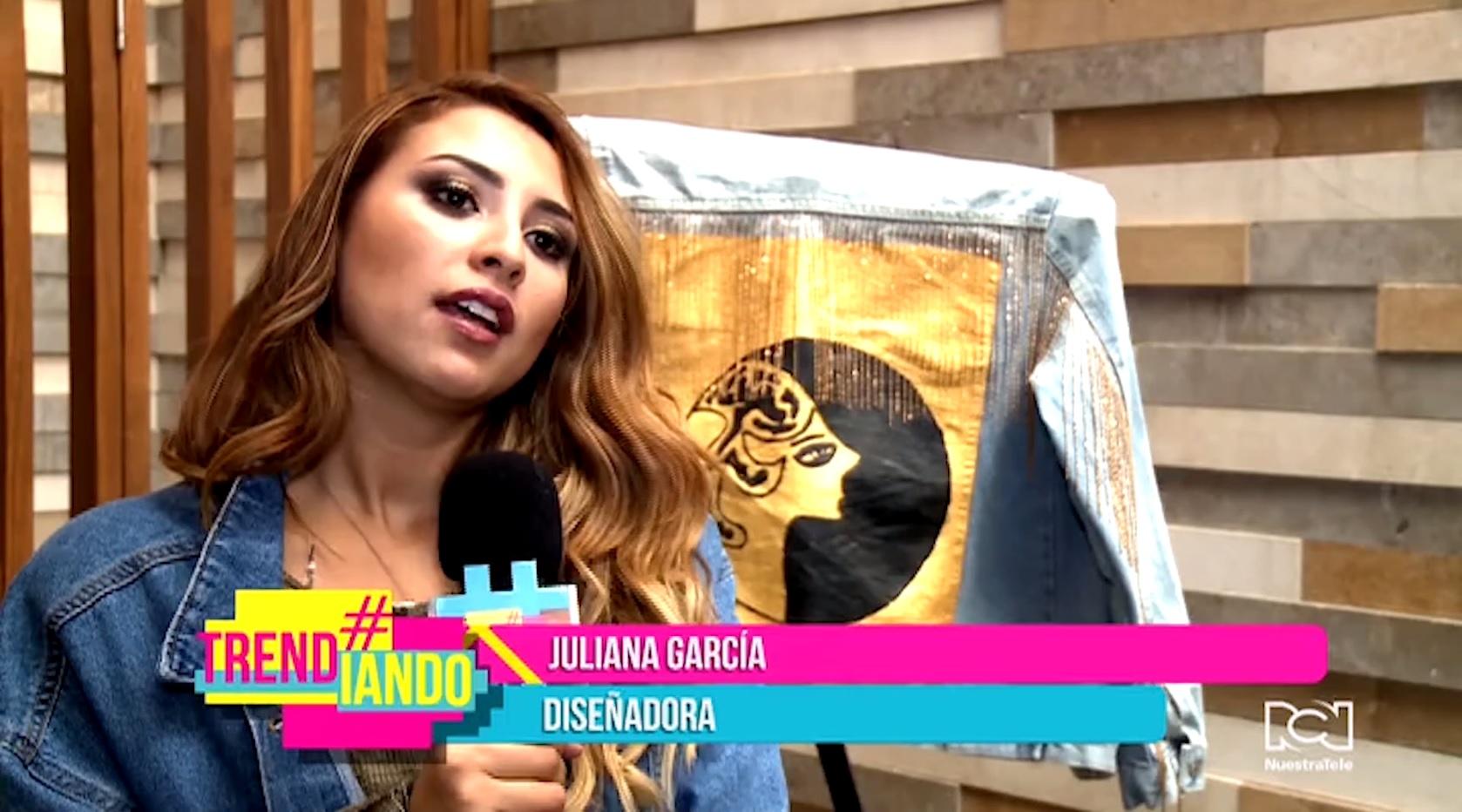 Creativa colombiana causa furor al plasmar su arte en las chaquetas de jean