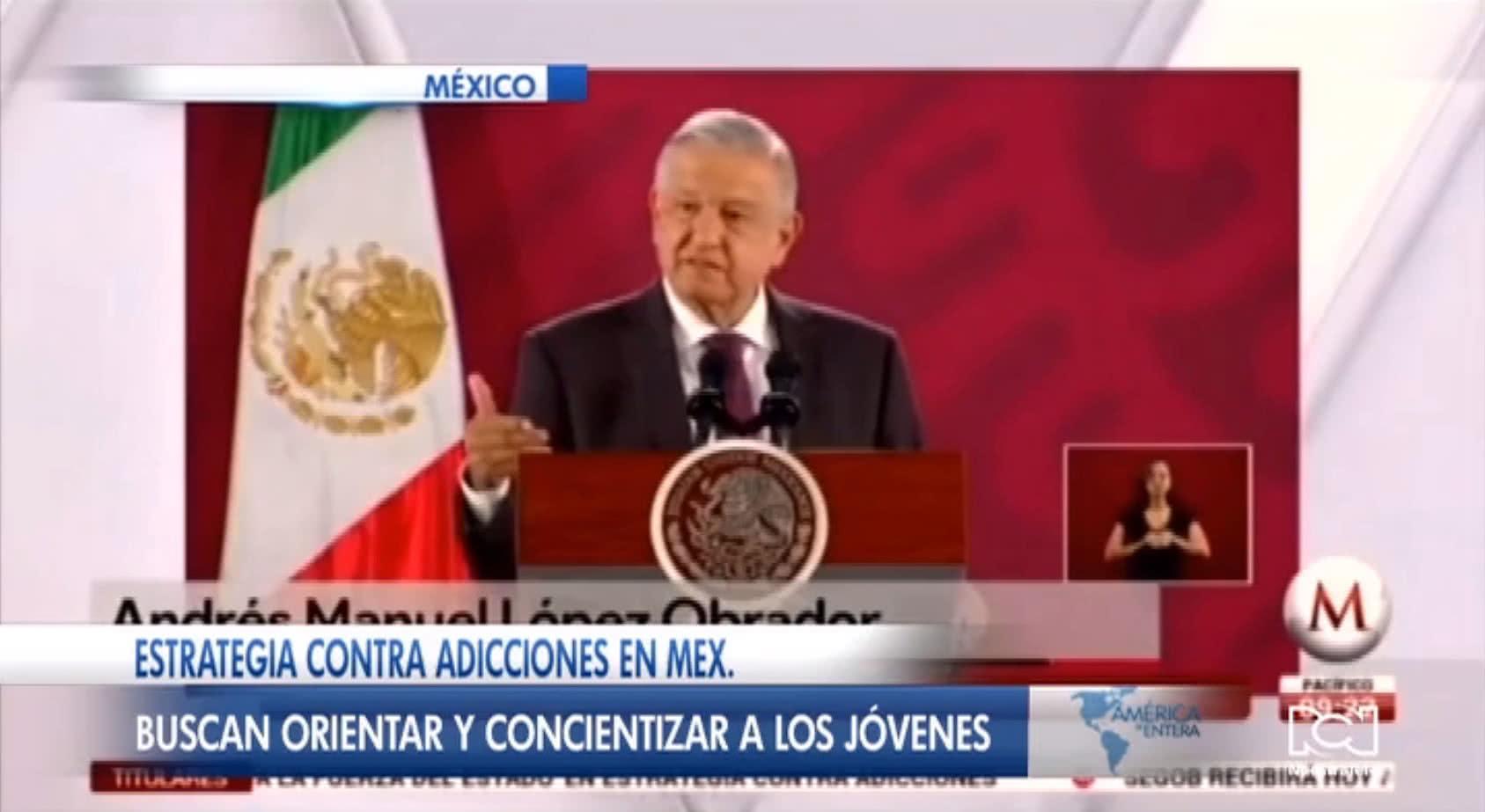Gobierno de México inició campaña contra las adicciones