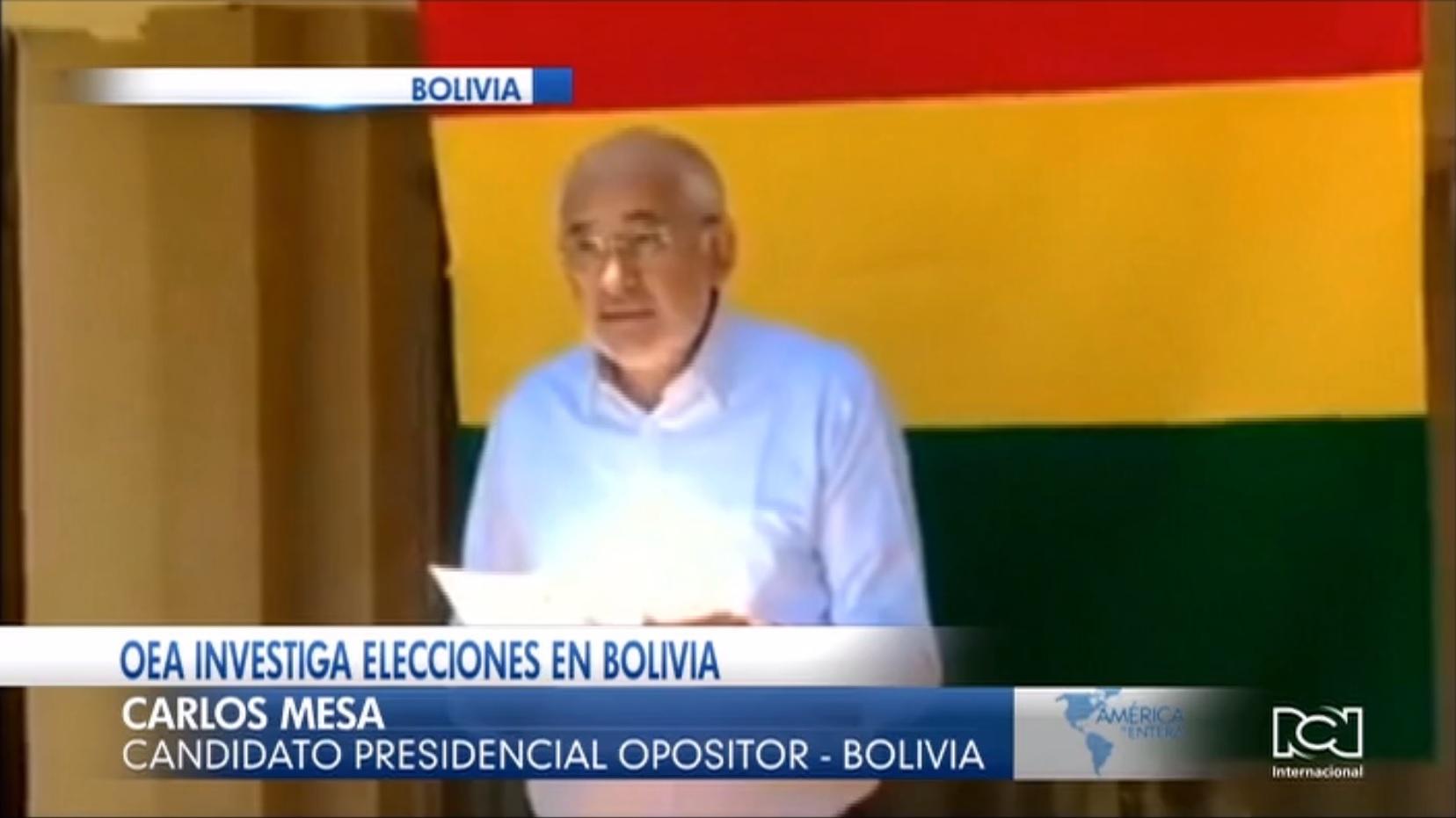 Opositor Carlos Mesa no acepta auditoria de la OEA a los resultados de las elecciones presidenciales en Bolivia
