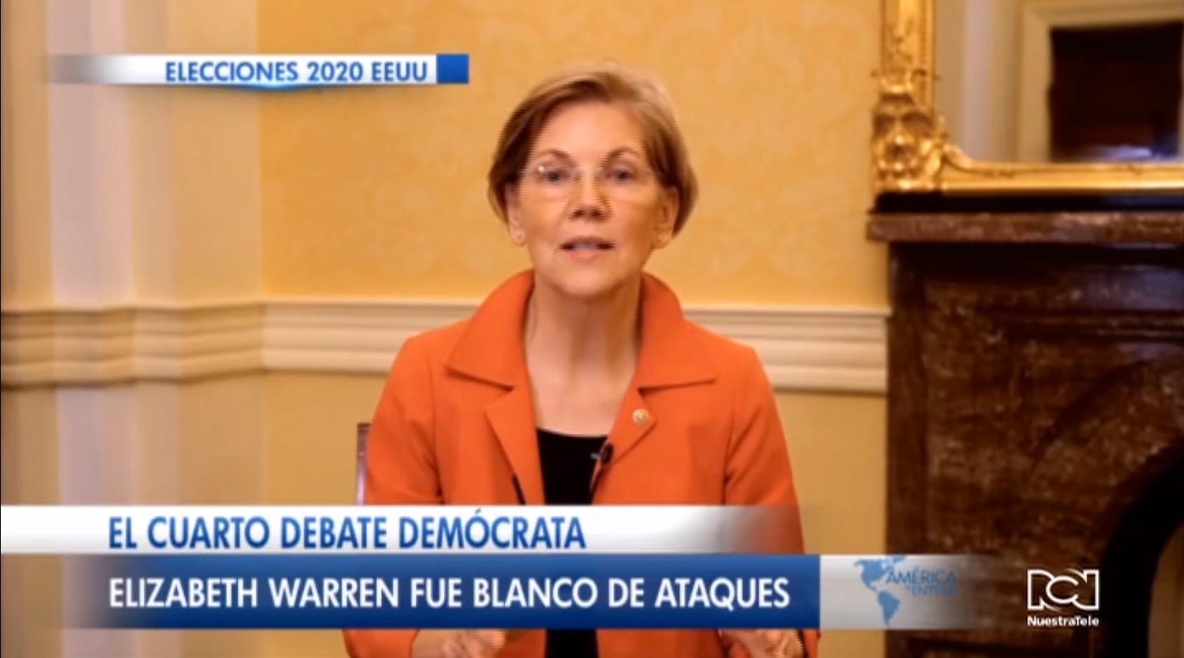 Elizabeth Warren dominó en medio de críticas el cuarto debate demócrata