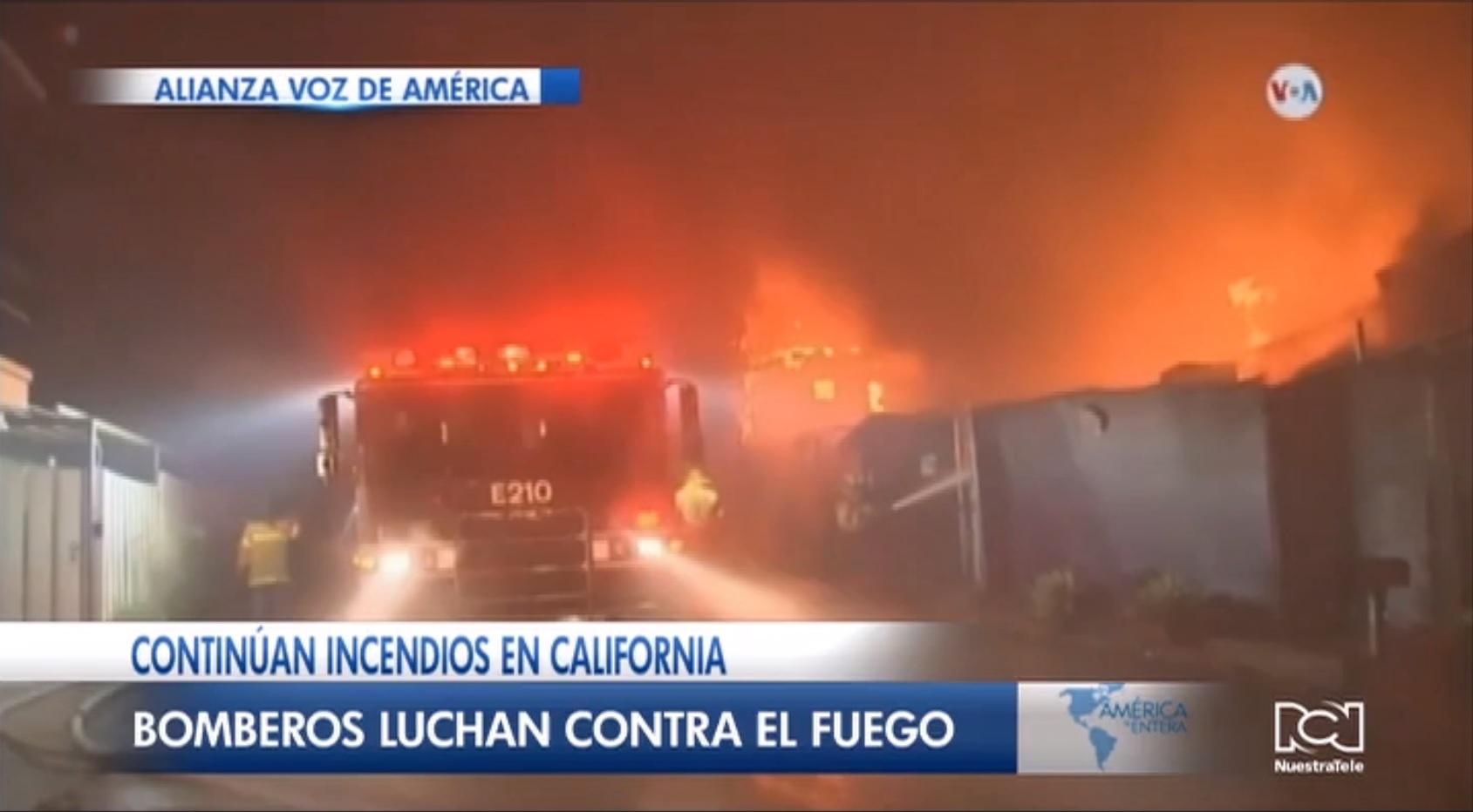 California mantiene el estado de emergencia por graves incendios forestales