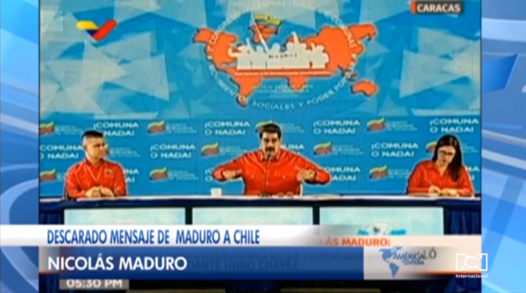 Nicolás Maduro alienta las protestas en Chile y dice que son consecuencia de la dictadura pinochetista