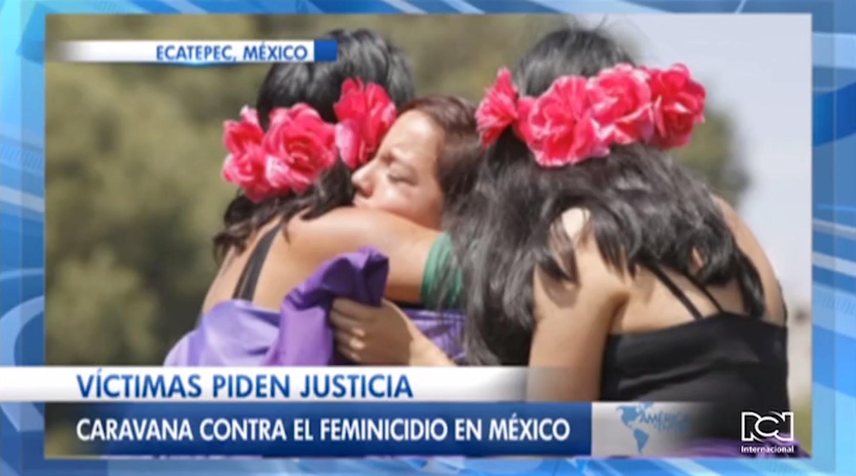 Cientos de mujeres marchan contra los repetitivos feminicidios en México