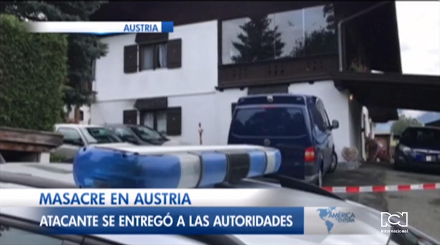 Relación sentimental tóxica termina con el asesinato de cinco personas en Austria