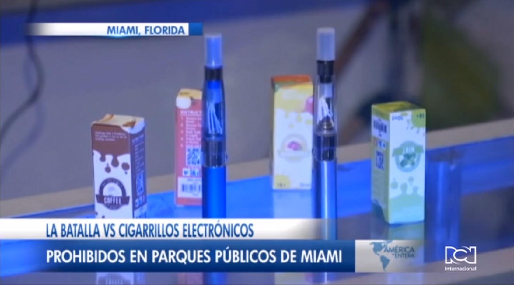 Miami Beach prohíbe el uso de cigarrillos electrónicos en parques públicos de la ciudad