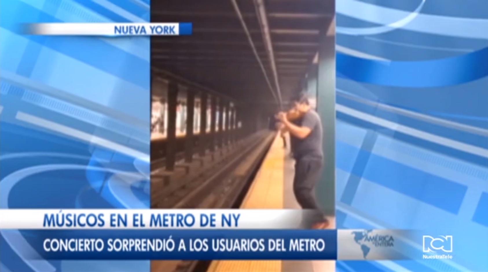 Músicos desconocidos ofrecen un impresionante recital de música clásica en el metro de Nueva York
