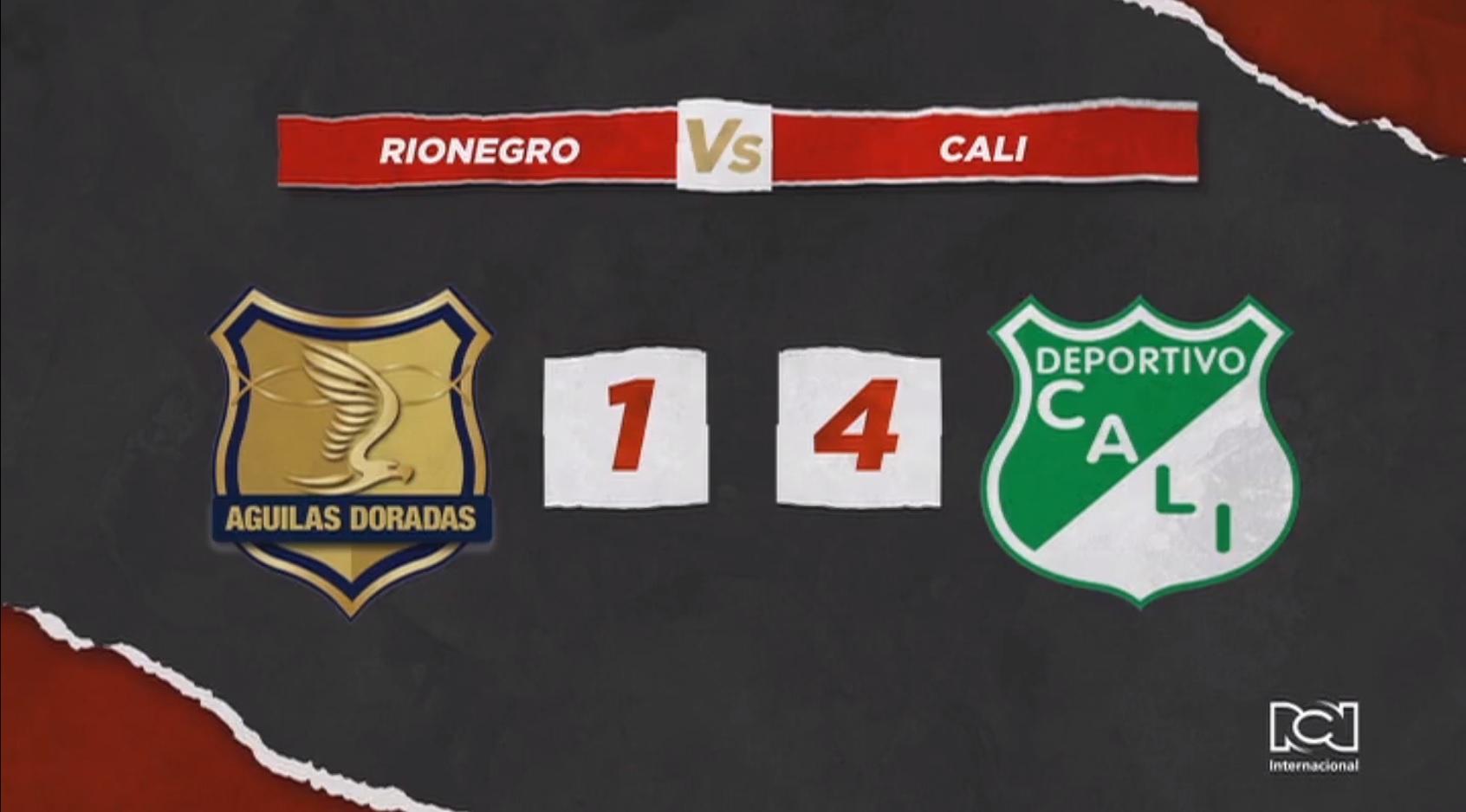 Deportivo Cali goleó a Rionegro y quedó cerca de la clasificación