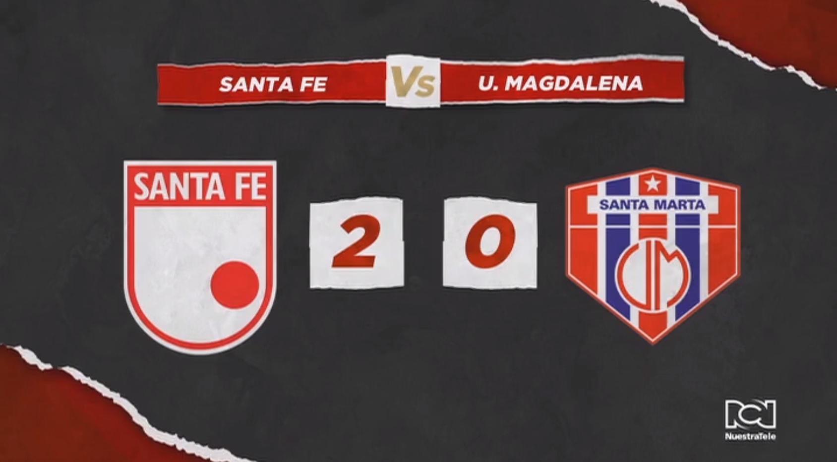 Santa Fe venció a Unión Magdalena y sueña con lograr la clasificación ante Millonarios