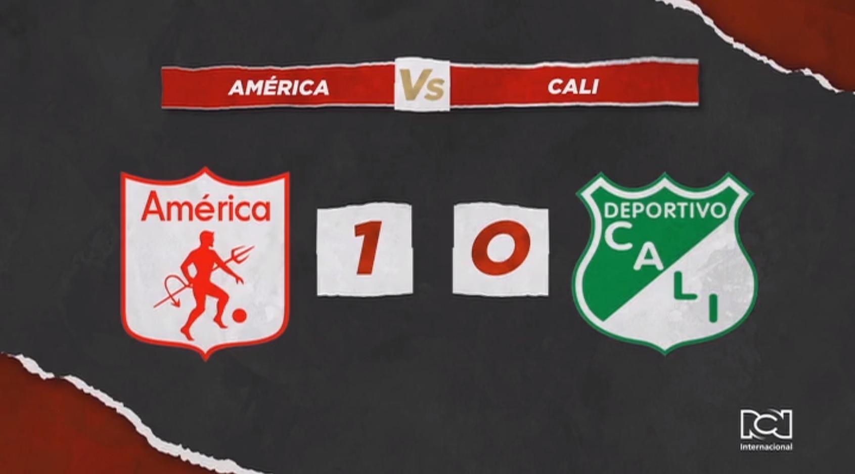 América derrotó por la mínima diferencia al Deportivo Cali