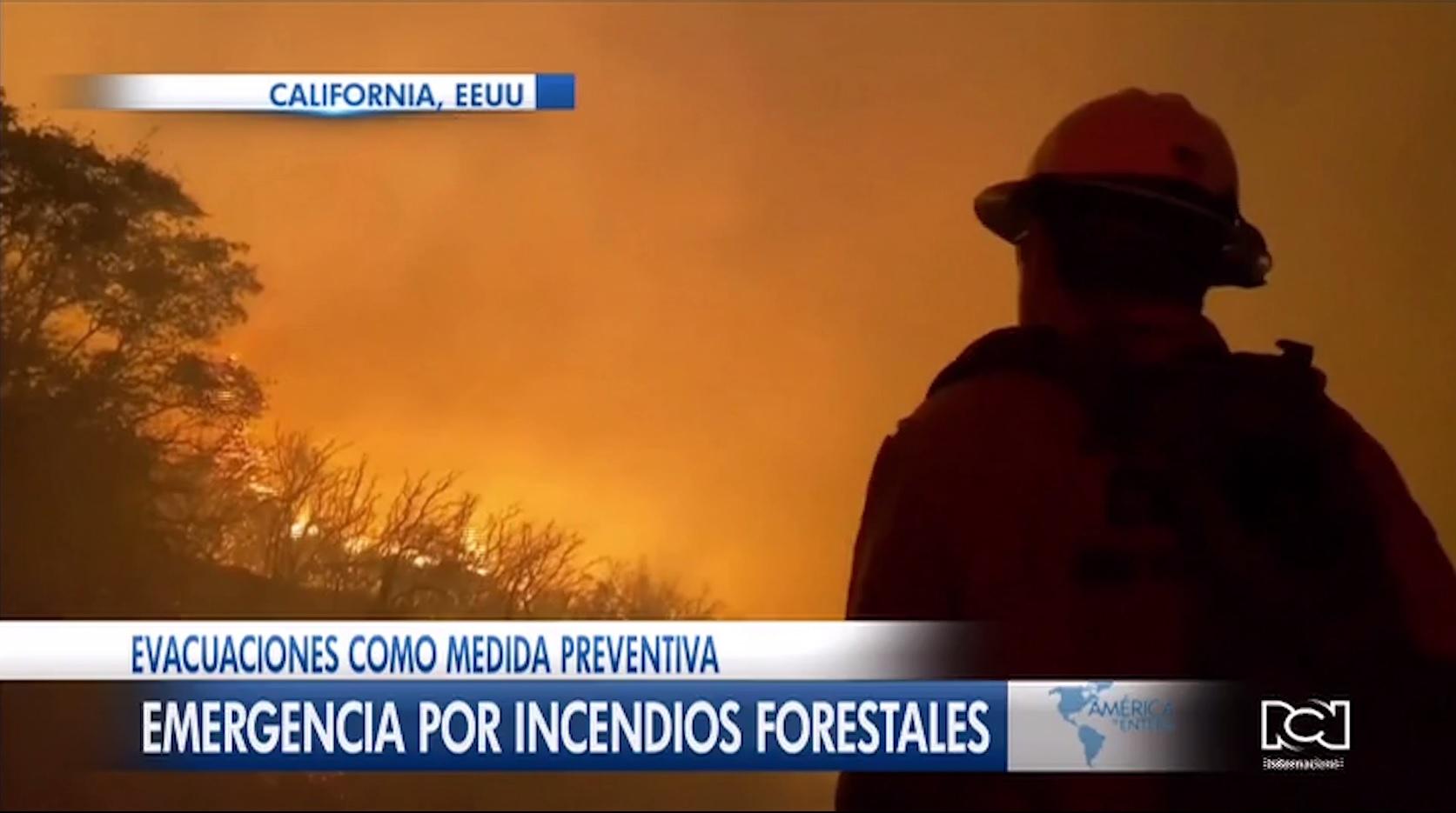 Emergencia por incendios forestales en California