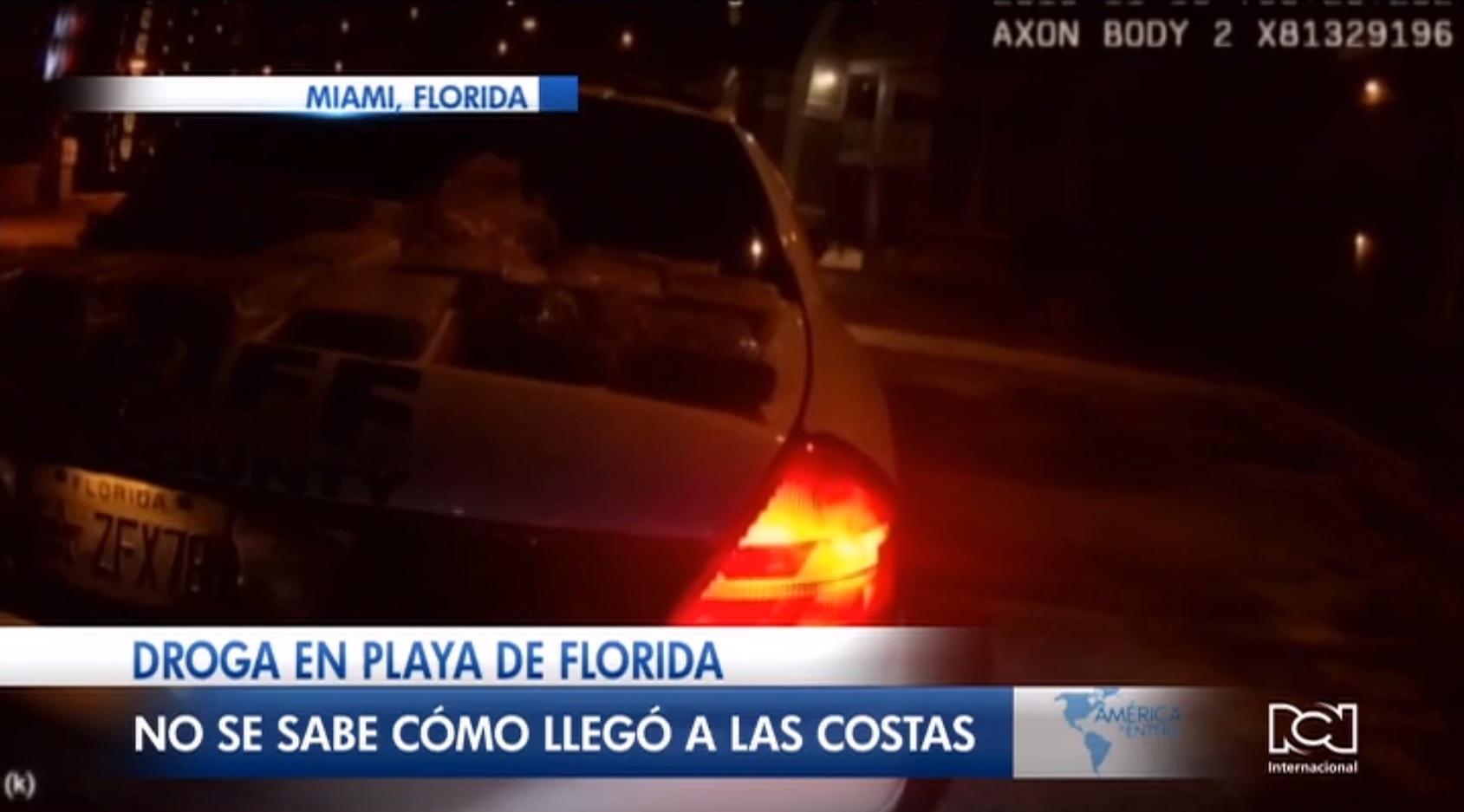 Encuentran 14 kilos de droga en una playa de Florida