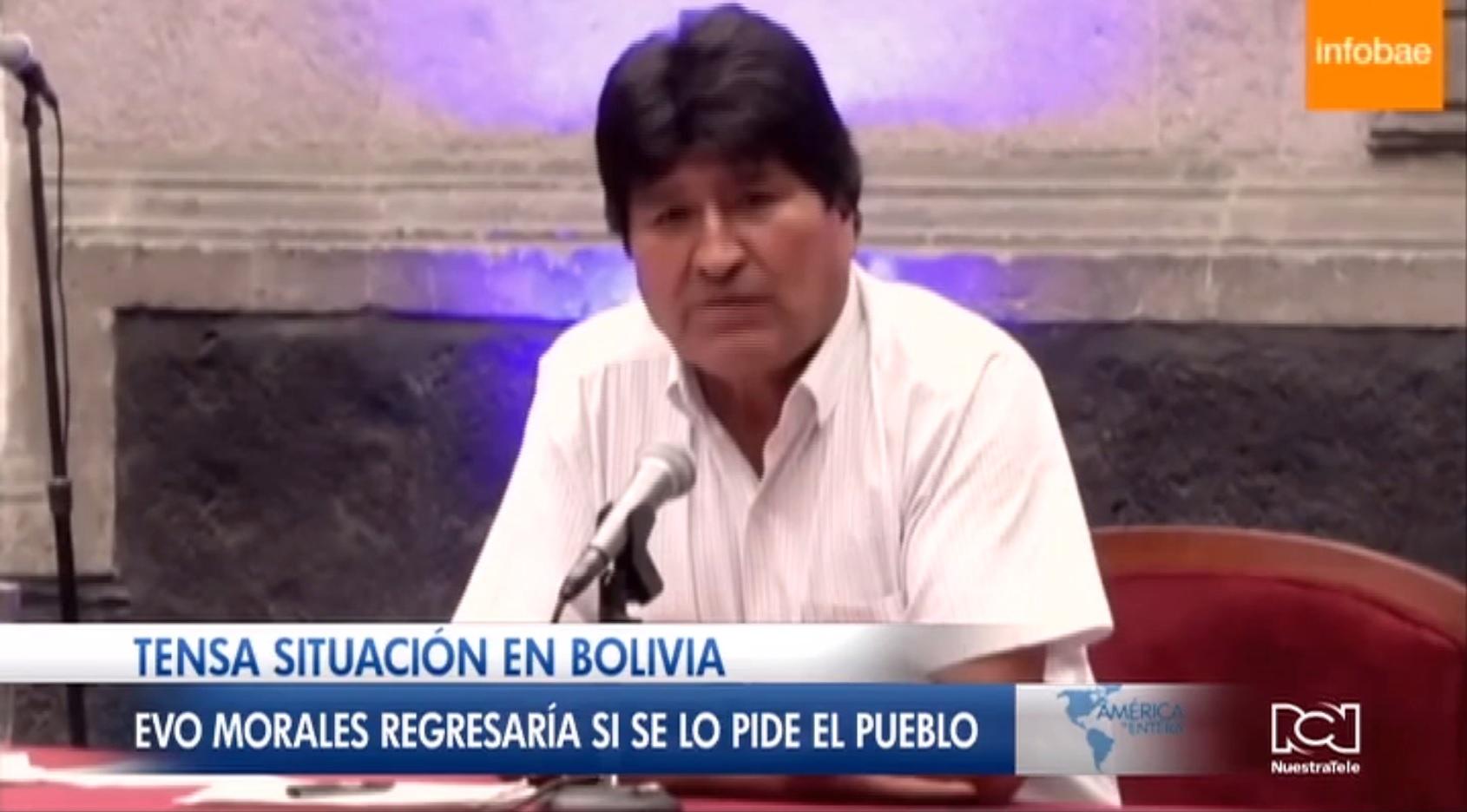 Evo Morales abre la puerta a su retorno a Bolivia