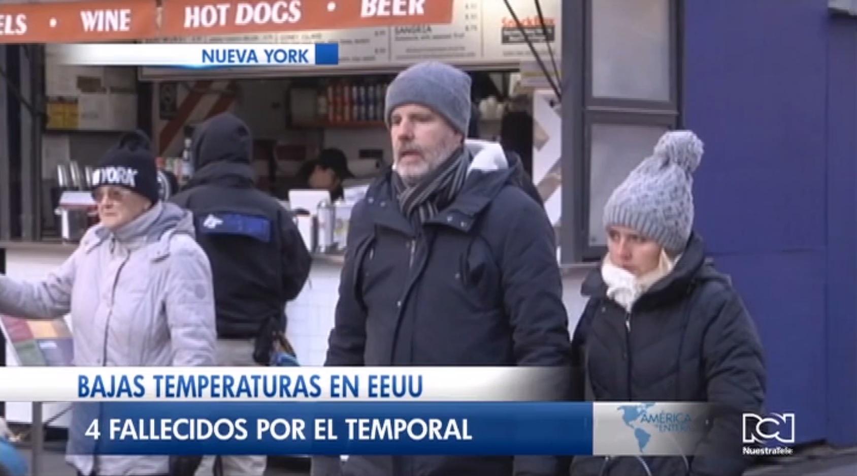 Frente frío polar provoca la muerte de cuatro personas en Estados Unidos