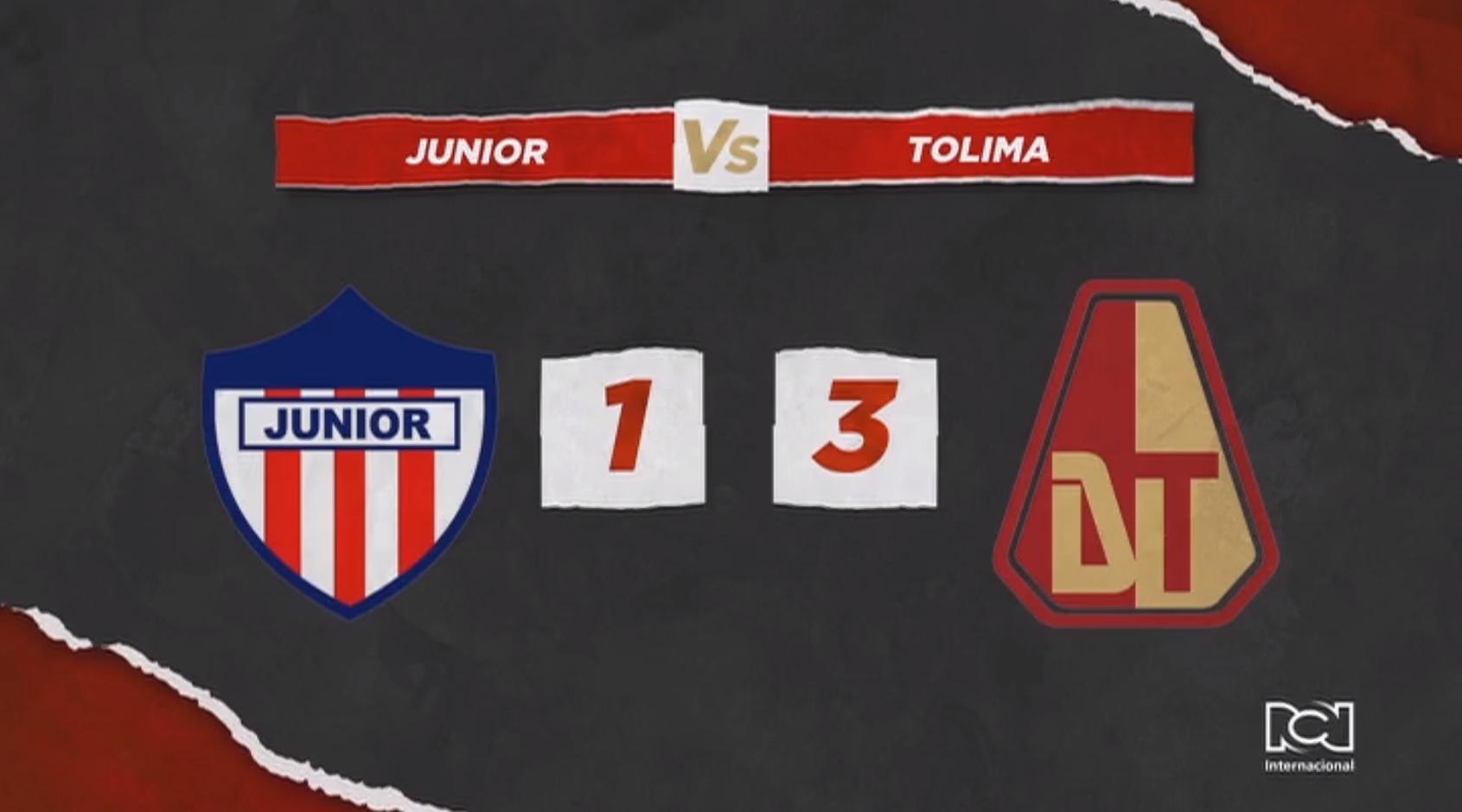 Deportes Tolima dio un golpe de autoridad y venció al Atlético Junior en Barranquilla