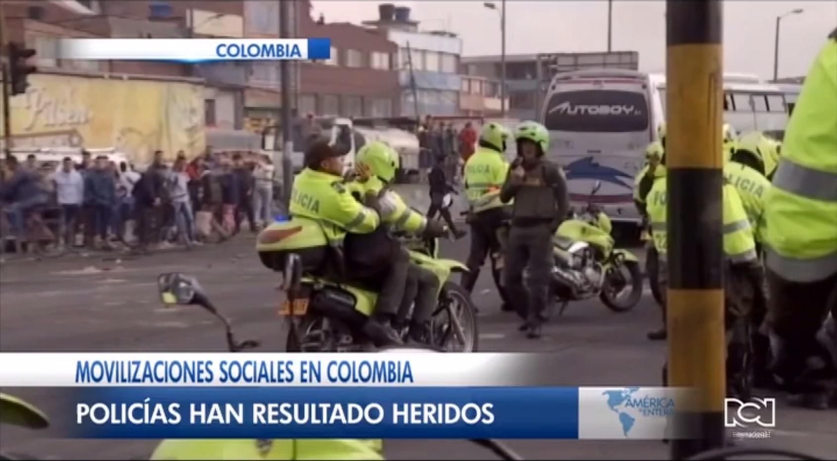 Más de 350 policías han resultado heridos durante los siete días de protestas en Colombia