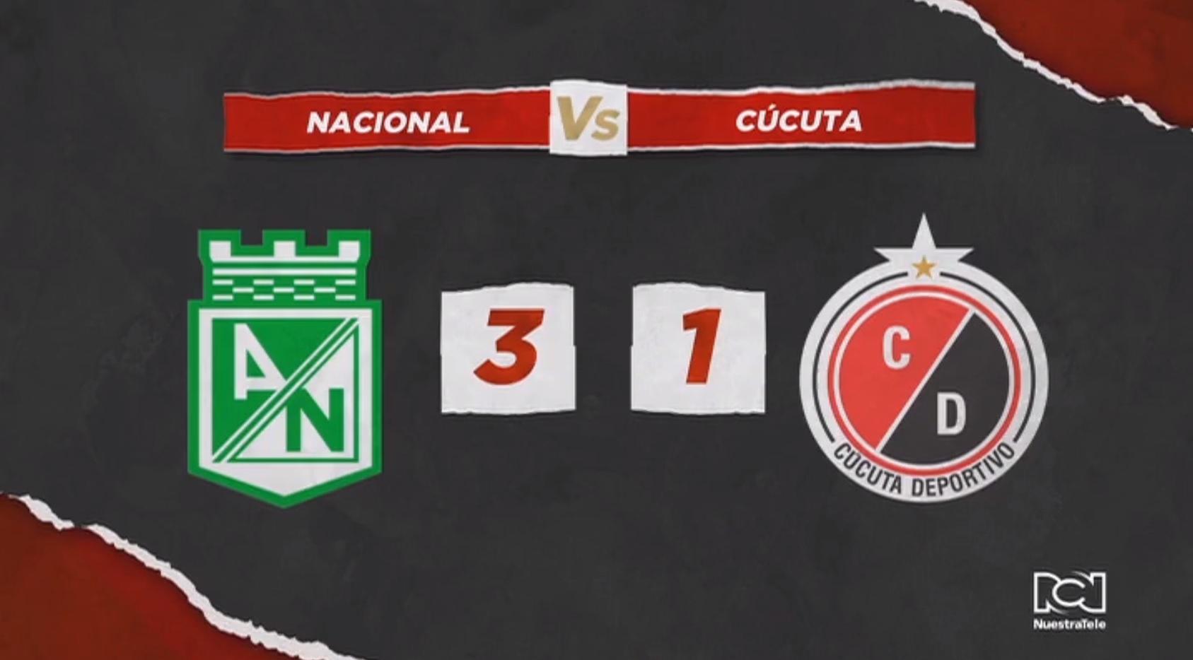 Atlético Nacional hizo respetar su casa, fue contundente y venció a Cúcuta Deportivo
